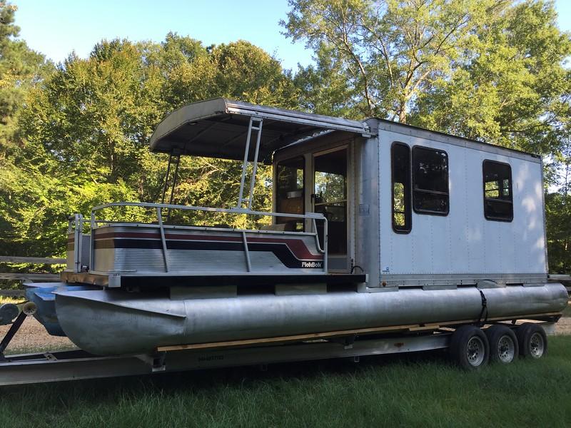 Party Hut Bimini conversion to hardtop - Pontoon Boat & Deck